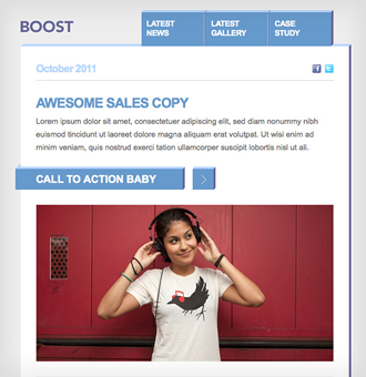 BOOST - A bold and simple, single column Campaign Monitor email ...